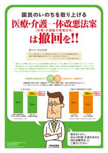 医療・介護一体改悪法案は撤回を!!