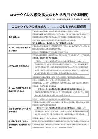 コロナ禍のもとで活用できる制度一覧(大生連作成)のサムネイル
