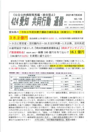 NO134-2021年度基金と『病床ダウンサイジング補助金」のサムネイル