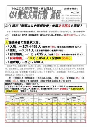 NO147―9-1全国の現感染者数、愛知県の状況(2021-9-5)のサムネイル